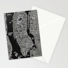 Cool New York city map with street signs Stationery Cards