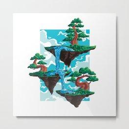 Flying Bonsai Islands Metal Print