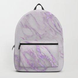 Marble Love Purple Metallic Backpack