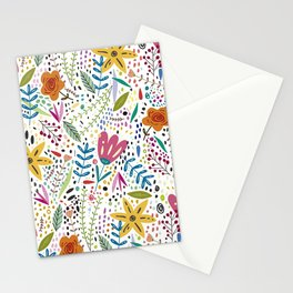 Flowers Paint Stationery Cards