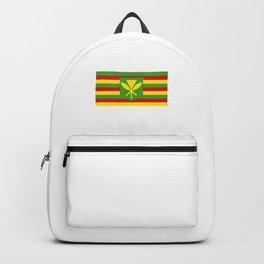 Mauna Kea Native Hawaiian Flag design Backpack