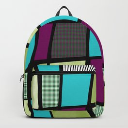 Patchwork in green Backpack