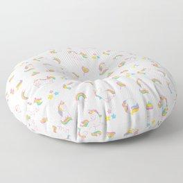 Cute magical rainbow girly pink trendy Unicorn pattern Floor Pillow