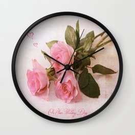 On Your Wedding Day Wall Clock
