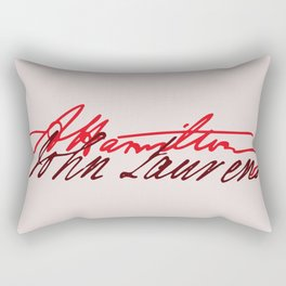 Alexander Hamilton and John Laurens signature Rectangular Pillow