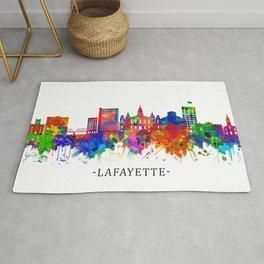 Lafayette Louisiana Skyline Rug