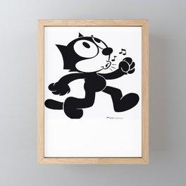 Felix Having Fun Framed Mini Art Print