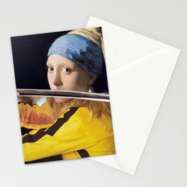 """Vermeer's """"Girl with a Pearl Earring"""" & Kill Bill Stationery Cards"""