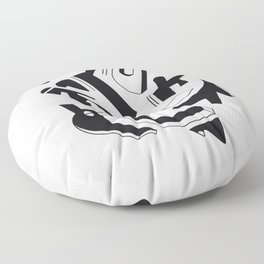 Confined Caos Floor Pillow