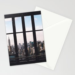 new york city skyline Stationery Cards