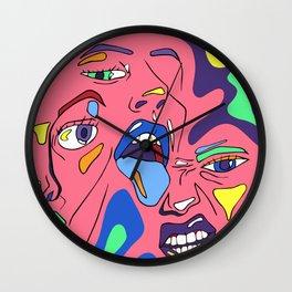 Trippy Triplets Wall Clock