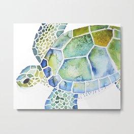 Sea Turtle - coastal - beach - sealife - ocean animals Metal Print