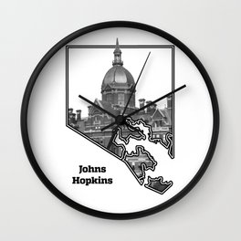 Hopkins White Wall Clock