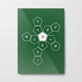 Green Unrolled D12 Metal Print
