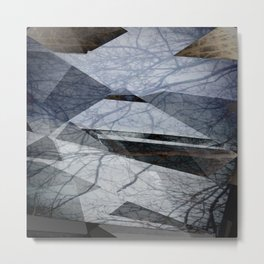 Geometric Abstact Trees Metal Print