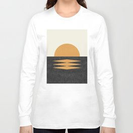 Sunset Geometric Midcentury style Long Sleeve T-shirt