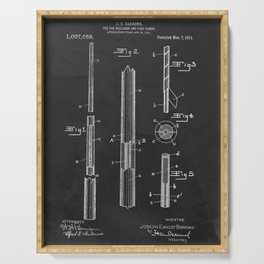 Billiards Pool Cue Patent 1911 Serving Tray