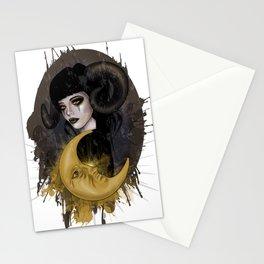 Aries girl | Gothic zodiac Stationery Cards