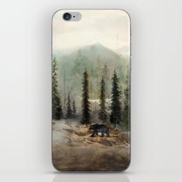 Mountain Black Bear iPhone Skin