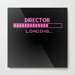 Director Loading Metal Print