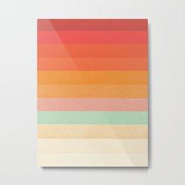 Rainbow Chevrons II Metal Print
