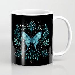Mystical Luna Moth - Turquoise Coffee Mug