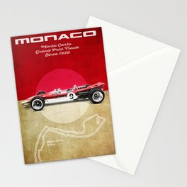 Monaco Racetrack Vintage Stationery Cards
