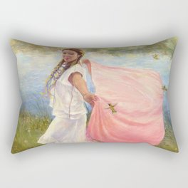 Arianna Hummingbird Dancer Rectangular Pillow