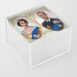 Queen Elizabeth 11 & Prince Philip in 1952 Acrylic Box