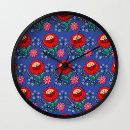 Hungarian repeat - blue Wall Clock
