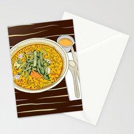 Singapore Laksa Noodle Stationery Cards