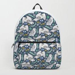 Snowy Owls on a Snowy Eve Backpack