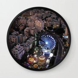 Twilight at Enaerios Limassol Wall Clock
