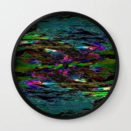 Evening Pond Rhapsody Abstract Wall Clock