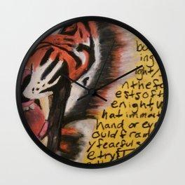 The Tyger  Wall Clock