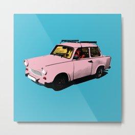 Trabant pink pop Metal Print