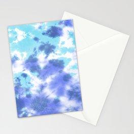 Pastel Ocean Blues Zen Tie Dye Stationery Cards