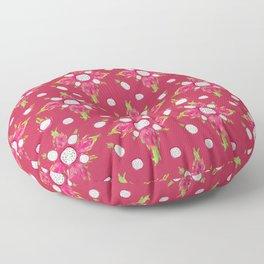 Dragon Fruit Blossom Floor Pillow