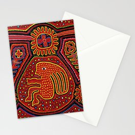 Kuna Indian Girl on Bicycle Stationery Cards