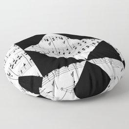 Black and White Music Floor Pillow