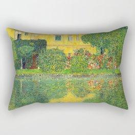 """Gustav Klimt """"Schloss Kammer on the Attersee"""" IV. Rectangular Pillow"""