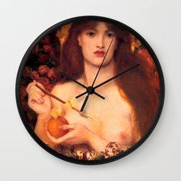 "Dante Gabriel Rossetti ""Venus Verticordia"" Wall Clock"