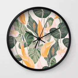Lush Lily - Autumn Wall Clock