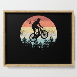 Mountain Biking Sunset Cyclist MTB Gift Serving Tray