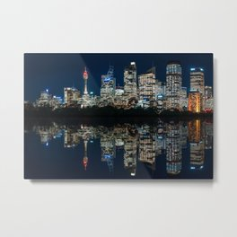 Ultrawide Sydney Waterfront Skyline Metal Print