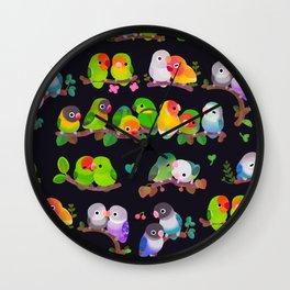 Lovebird - dark Wall Clock