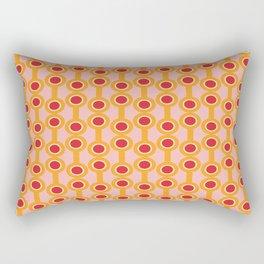 dumbbells yellow  #midcenturymodern Rectangular Pillow