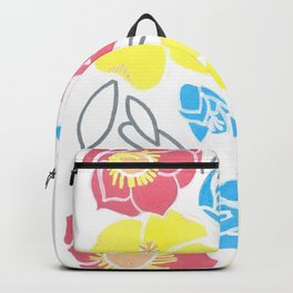 Ava & Charlotte Floral Pattern  Backpack