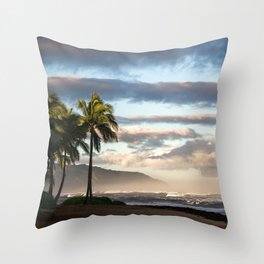 North Shore Hawaii Throw Pillow