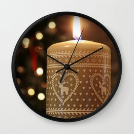 Christmas candle vertical Wall Clock